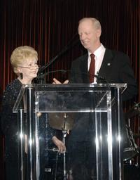 Debbie Reynolds and John W. House at the House Ear Institute Benefit.