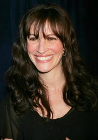 """Julia Roberts at the after party for the opening of """"Three Days of Rain"""" in New York City."""