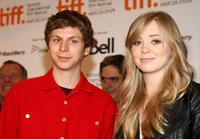 Michael Cera and Portia Doubleday at the press conference of