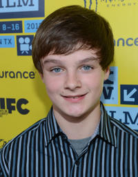 Chandler Canterbury at the Texas premiere of
