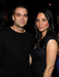 Mark Salling and Olivia Munn at the 2010 Entertainment Weekly and Women In Film Pre-Emmy party.