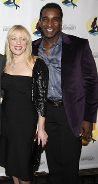 Sherie Rene Scott and Norm Lewis at the after party of the Broadway Opening Night of