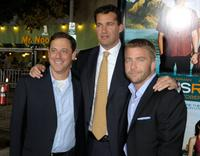 Adam Fogelson, Producer Scott Stuber and Peter Billingsley at the premiere of