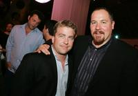 Peter Billingsley and Jon Favreau at the afterparty for the premiere of