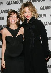 Meg Ryan and Cindi Leive at the Glamour Magazine first-ever Hero Issue launch party.