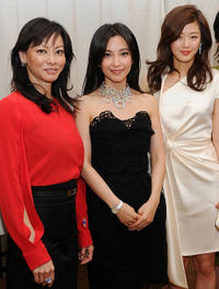 Producer Florence Low Sloan, Bing Bing Li and Gianna Jun at the Luncheon of