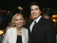 Eva Marie Saint and Brandon Routh at the after party for the premiere of Warner Bros.