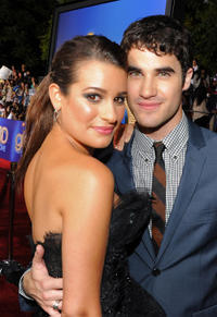 Lea Michele and Darren Criss at the California premiere of