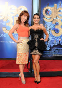 Kathy Griffin and Lea Michele at the California premiere of