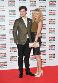 Sam Clafin and Laura Haddock at the Jameson Empire Awards in London.