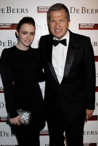 Lily Collins and Mario Testino at the Love Ball London.