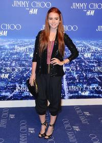 Lily Collins at the Jimmy Choo for H&M Collection private event.