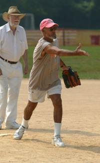 Roy Scheider at the 2003 Artists and Writers Softball Game.