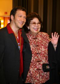 Rob Schneider and his mother at the 2007 AZN Asian Excellence Awards.