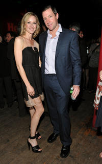 Kerry Bishe and director Edward Burns at the after party of Tribeca Film Festival in New York.