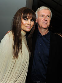 Alice Parkinson and executive producer James Cameron at the California premiere of
