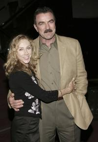 Jillie Mack and Tom Selleck at the CBS Screening of