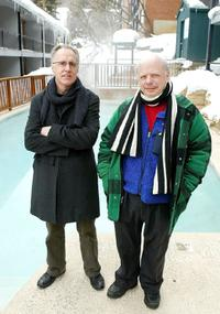 Tom Cairns and Wallace Shawn at the 2004 Sundance Film Festival.