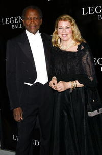 Sidney Poitier and Joanna Shimkus at the Oprah Winfrey's Legends Ball.