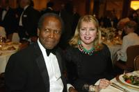 Sidney Poitier and Joanna Shimkus at the