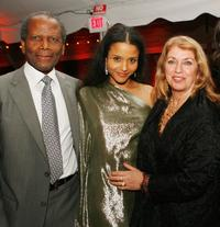 Sidney Poitier, Sydney Tamiia and Joanna Shimkus at the after party of the premiere of