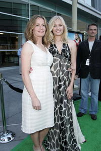Elisabeth Shue and Carly Schroeder at the premiere of