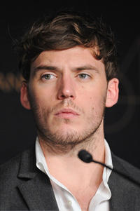 Sam Claflin at the press conference of