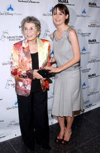 Jean Simmons and Emily Mortimer at the premiere of