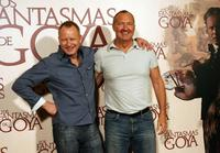 Stellan Skarsgard and Randy Quaid at the conference for the promotion of
