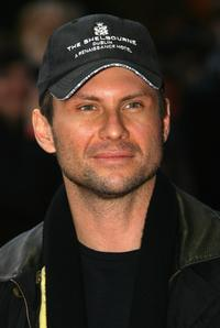 Christian Slater at the launch event for Halo 3.