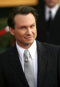 Christian Slater at the red carpet of the 13th Annual Screen Actors Guild Awards.