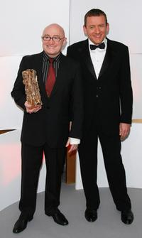 Michel Blanc and Dany Boon at the 32nd Cesars film awards ceremony.