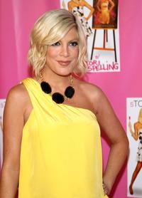 Tori Spelling at the cocktail party for the launch of her new book