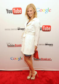 Caitlin Gerard at the YouTube 2012 Upfronts Presentation in New York.