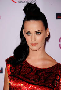 Katy Perry at the MTV Europe Awards 2010 in Spain.