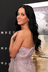 Singer Katy Perry arrives at the premiere of Touchstone Pictures and Miramax Films' 'The Tempest' at the El Capitan Theatre.