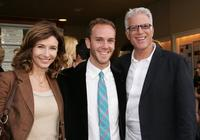 Mary Steenburgen, her husband Ted Danson and her son Charlie McDowell at the premiere of the short film