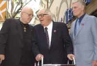 Rod Steiger, Ray Bradbury and Charlton Heston at the event honoring the author with a star on the Hollywood Walk of Fame.