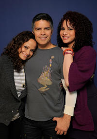 Judy Reyes, Esai Morales and Harmony Santana at the portrait session of