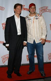 Eric Stoltz and Joey Fatone at the party in honor of