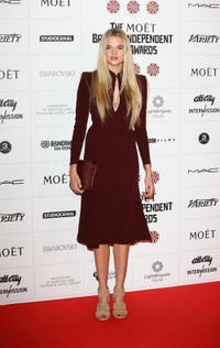 Gabriella Wilde at the British Independent Film Awards in England.