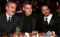 David Strathairn, George Clooney and Grant Heslov at the 2006 Producers Guild awards.