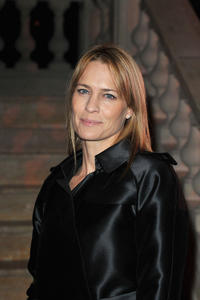 Robin Wright at the Fashion Dinner for AIDS in Paris.