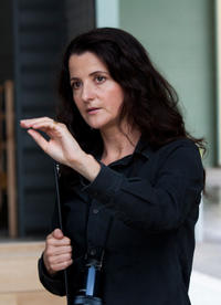 Director Julia Leigh on the set of