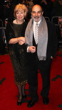 David Suchet and Guest at the world premiere of
