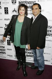 Meera Syal and Sanjeev Bhaskar at the British Independent Film Awards.