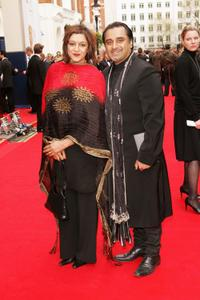Meera Syal and Sanjeev Bhaskar at the Pioneer British Academy Television Awards.