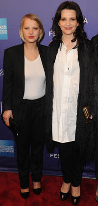 Joanna Kulig and Juliette Binoche at the premiere of