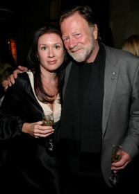 Rebecca Williamson and Jack Thompson at the 2009 Australian Academy Awards Nominee Party.