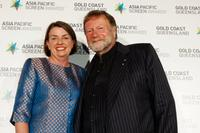 Anna Bligh and Jack Thompson at the Asia Pacific Screen Awards.